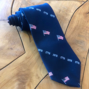 1976 USA Bicentennial Neck Tie 1776 200 Years Flag